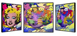 Pop Art Marilyn by Patrick Rubinstein - Kinetic Edition sized 27x27 inches. Available from Whitewall Galleries