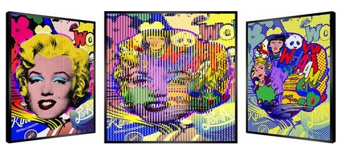 Pop Art Marilyn by Patrick Rubinstein - Kinetic Edition